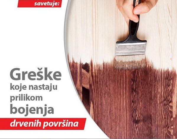 19 Greske koje nastaju prilikom bojenja drvenih povrsina