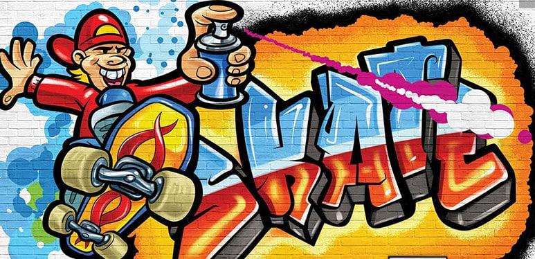 4 grafitni zid
